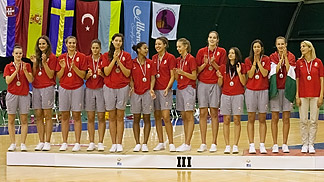 Bronze medalists Hungary